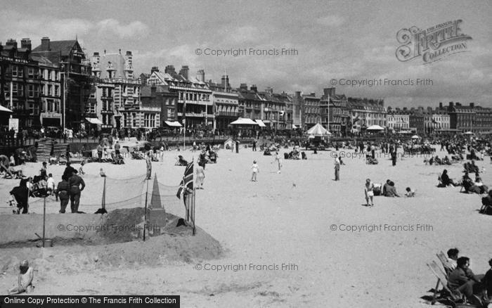 Photo of Weymouth, Sands And Front c.1955