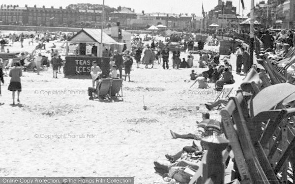 Photo of Weymouth, Sands And West End c.1955