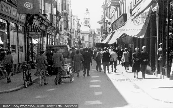 Photo of Weymouth, St Mary's Street c.1955