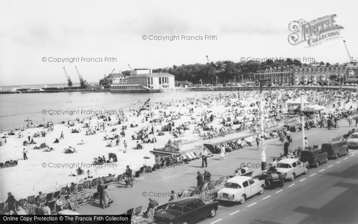 Photo of Weymouth, The Beach And Pavilion c.1960