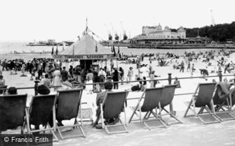Weymouth, the Beach and the Pier c1950