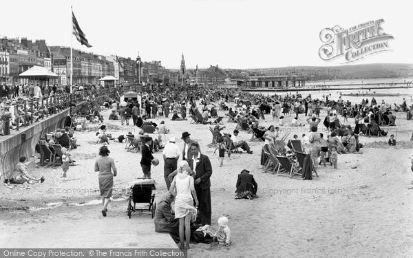Photo of Weymouth, the Beach c1955
