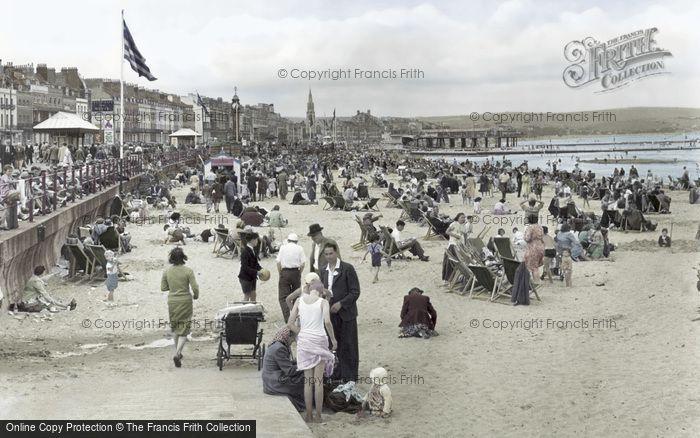 Weymouth, The Beach c.1955