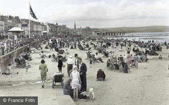 Weymouth, the Beach c1955