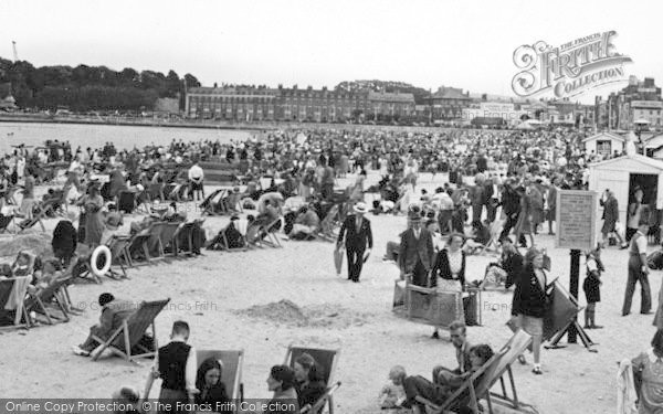 Photo of Weymouth, The Beach c.1955