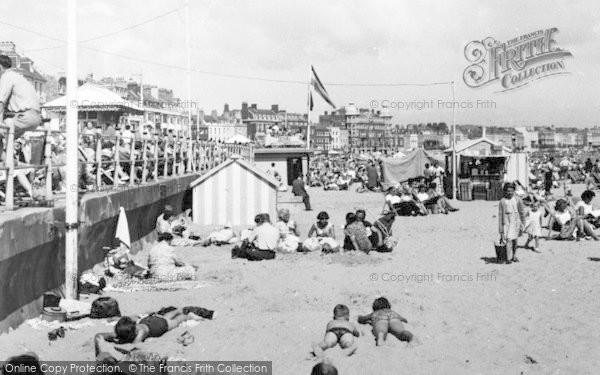Photo of Weymouth, The Beach c.1955