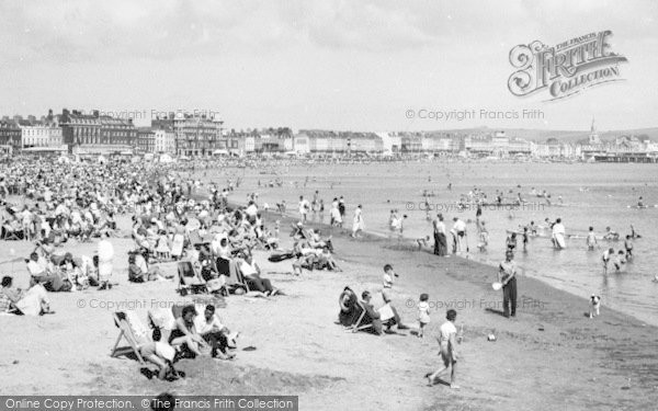 Photo of Weymouth, The Beach c.1960