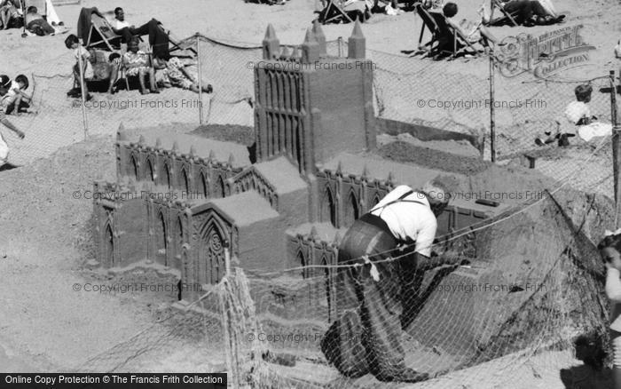 Photo of Weymouth, The Beach, Sand Sculpture c.1955