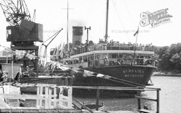 Photo of Weymouth, The Channel Isles Boat c.1955