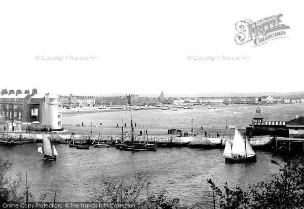 Photo of Weymouth, The Harbour 1894