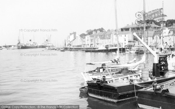 Photo of Weymouth, The Harbour c.1955