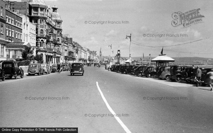 Photo of Weymouth, The Promenade c.1955