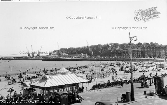 Photo of Weymouth, The Promenade c.1955