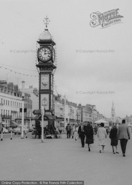 Photo of Weymouth, The Promenade, Jubilee Clock Tower c.1965