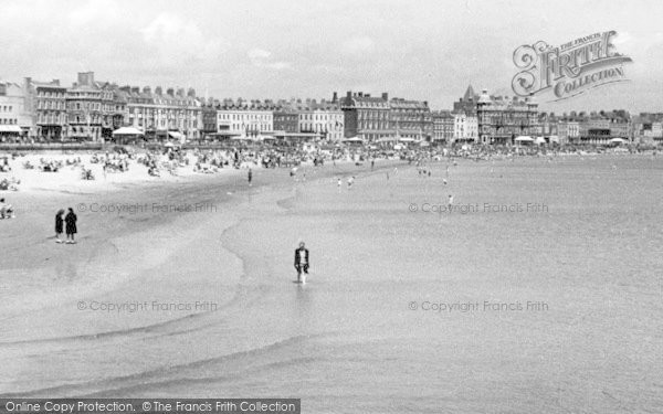 Photo of Weymouth, The Sands c.1955