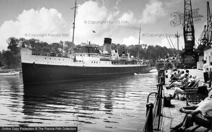 Photo of Weymouth, The St Helier Leaving Harbour c.1955