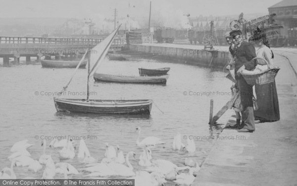 Photo of Weymouth, The Swannery, People 1890
