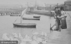 Weymouth, The Swannery, People 1890