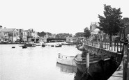 Weymouth, Town Bridge and Harbour c1950
