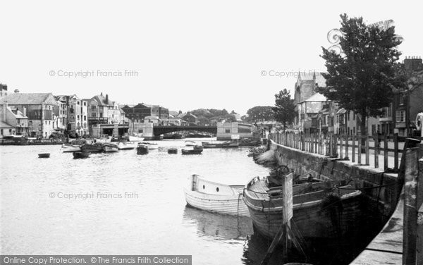Photo of Weymouth, Town Bridge and Harbour c1950