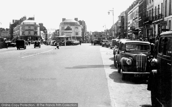 Photo of Weymouth, Town Centre c.1955