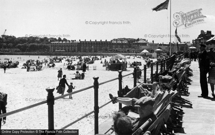 Photo of Weymouth, West Promenade And Sands c.1955