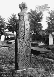 An Ancient Cross In The Churchyard 1899, Whalley