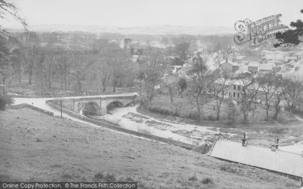 Photo of Whalley, And The River Calder c.1955