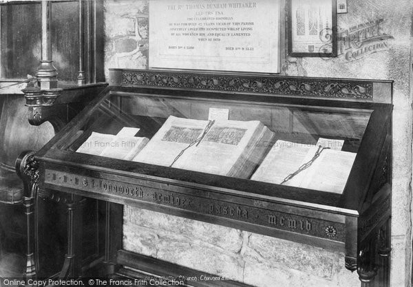 Photo of Whalley, Church, Chained Bible 1906