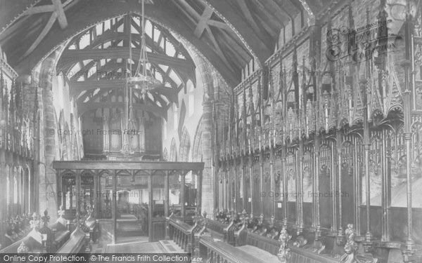 Photo of Whalley, Church, Choir West 1899