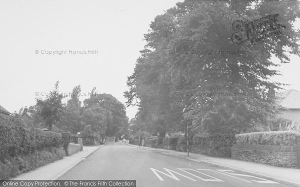 Photo of Whalley, Clitheroe Road c.1955