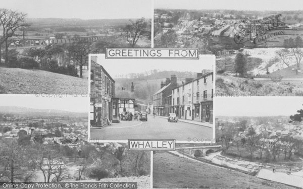 Photo of Whalley, Composite c.1955