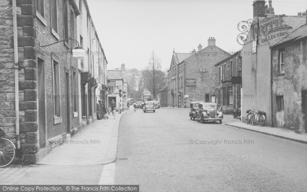 Photo of Whalley, King Street And The Swan Hotel c.1955