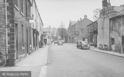 King Street And The Swan Hotel c.1955, Whalley