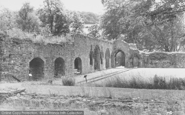 Photo of Whalley, The Abbey, Cloisters c.1965