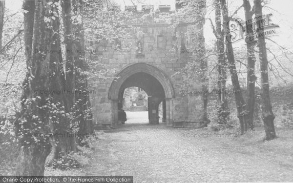 Photo of Whalley, The Abbey Entrance c.1960