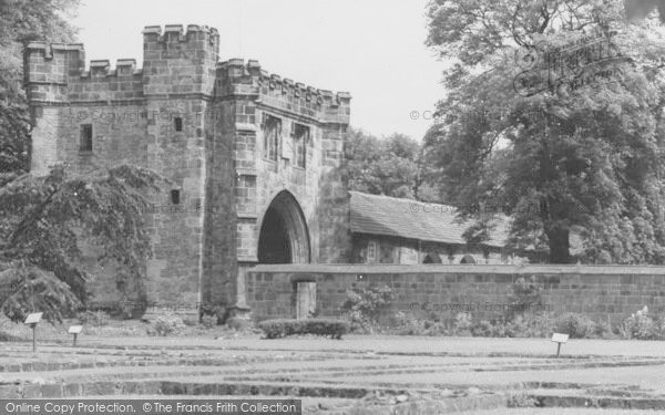 Photo of Whalley, The Abbey, North East Gate c.1965