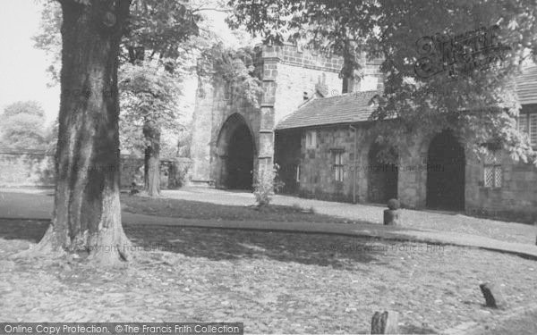 Photo of Whalley, The Abbey, The North Gate c.1960