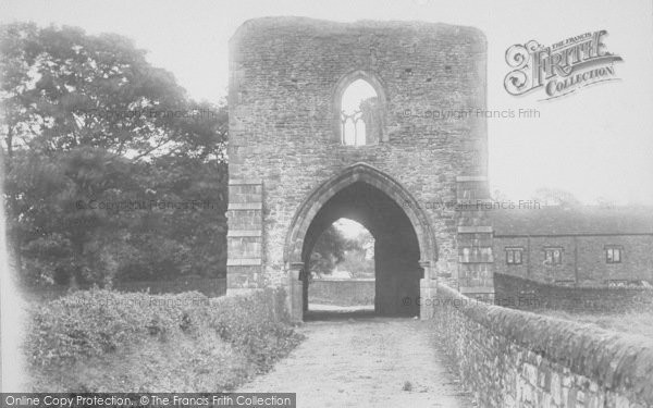 Photo of Whalley, The Abbey, West Gate 1894