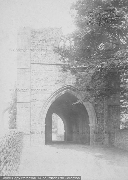 Photo of Whalley, The Abbey, West Gate 1895