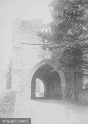 Whalley, The Abbey, West Gate 1895