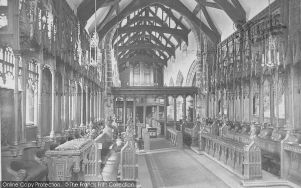Photo of Whalley, The Church, Choir West 1914