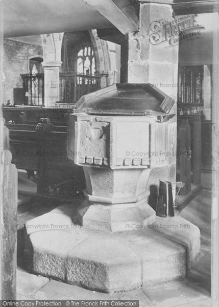 Photo of Whalley, The Church Font 1906