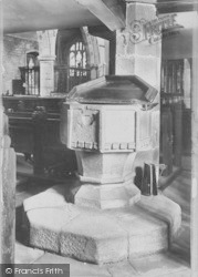Whalley, The Church Font 1906