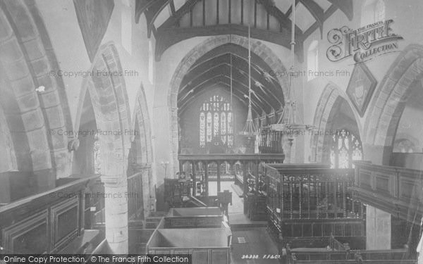 Photo of Whalley, The Church Interior 1894