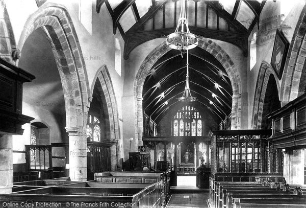 Photo of Whalley, The Church, Nave 1899