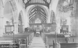 Whalley, The Church, Nave East 1914