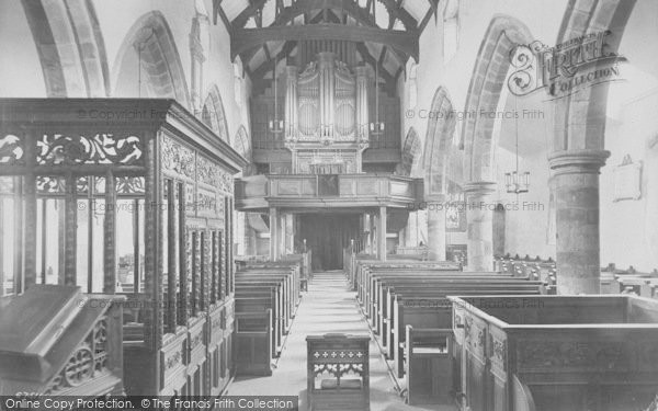 Photo of Whalley, The Church, Nave West 1914