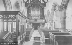 Whalley, The Church, Nave West 1914
