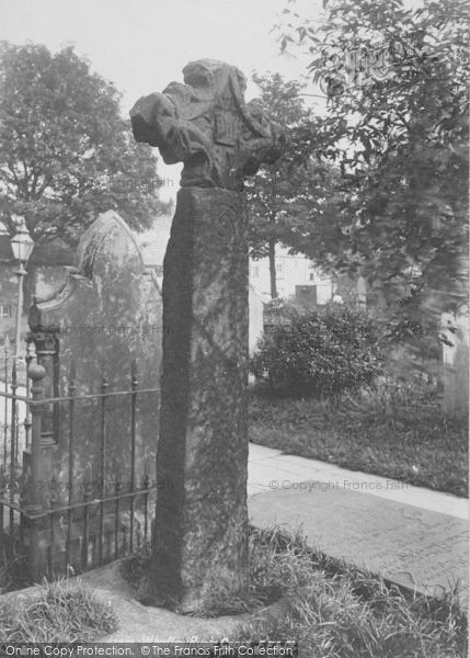 Photo of Whalley, The Churchyard, Runic Cross 1899